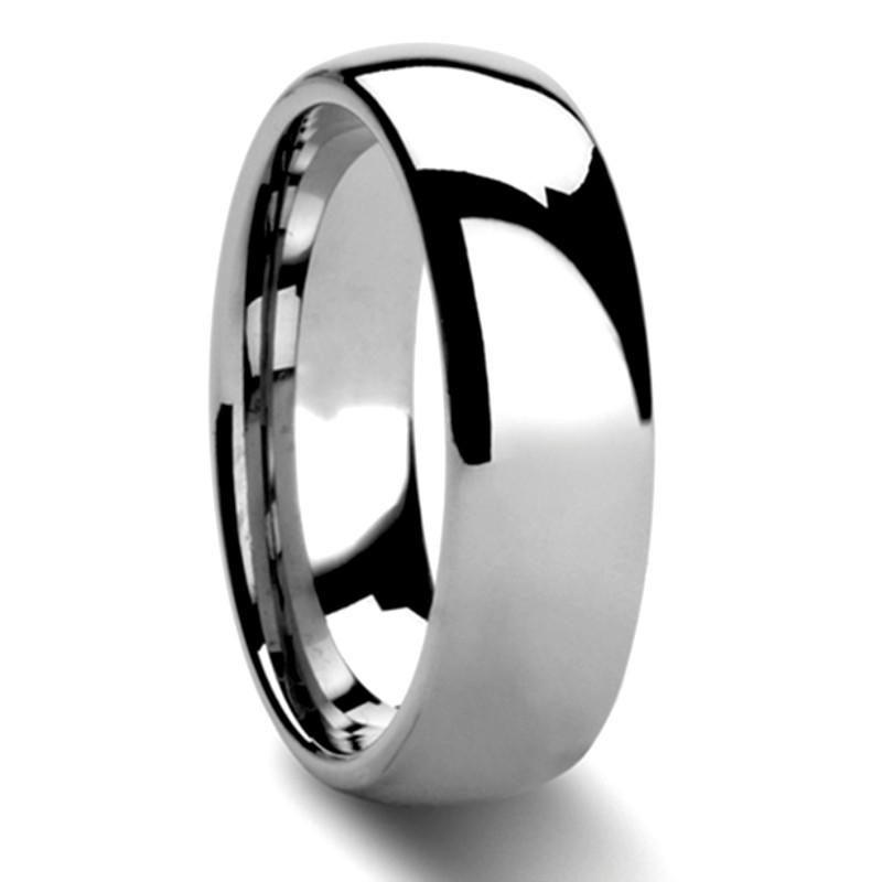 Tungsten 6mm Ring Carbide Ring  Domed Shiny Polished