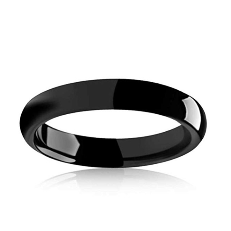 Engraved Black Tungsten Rings Carbide Wedding for Men 4mm-8mm