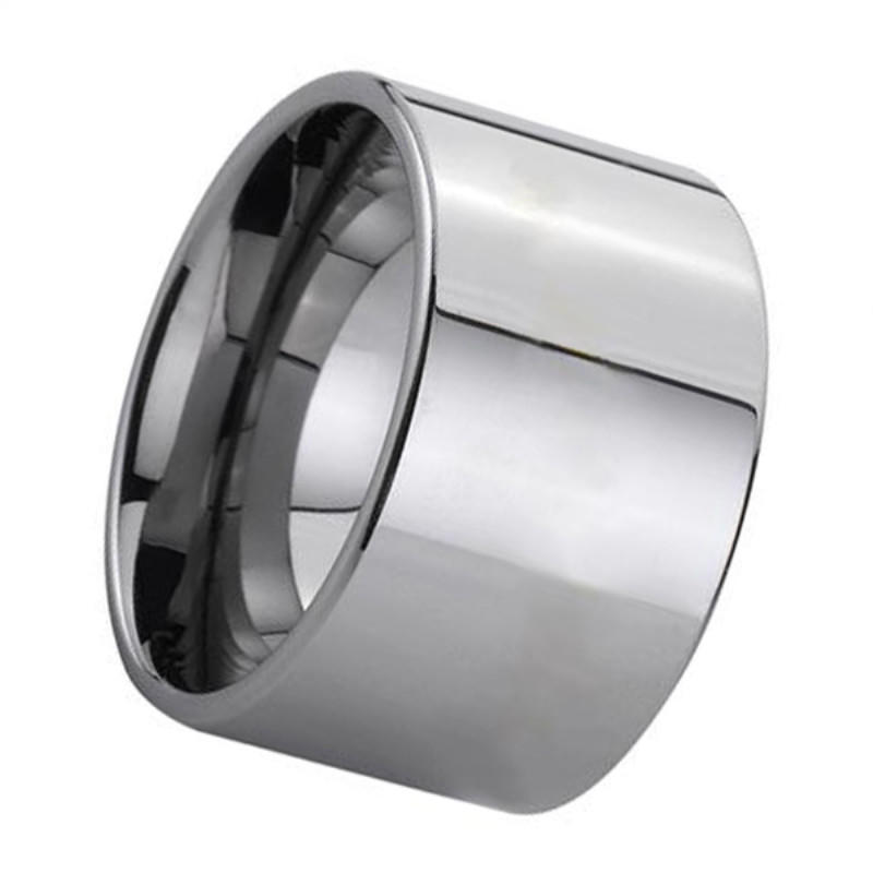 12mm Polished Tungsten Carbide Tube Ring Tungsten Band for Men