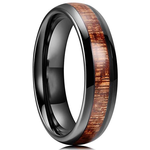 JaneE multi colors mens black wedding bands engraved for wedding-1