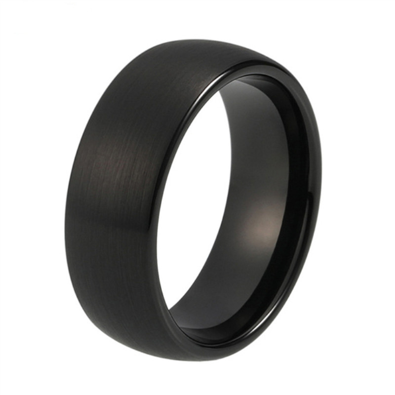 JaneE inlay brushed tungsten wedding bands for her exquisite for engagement-4