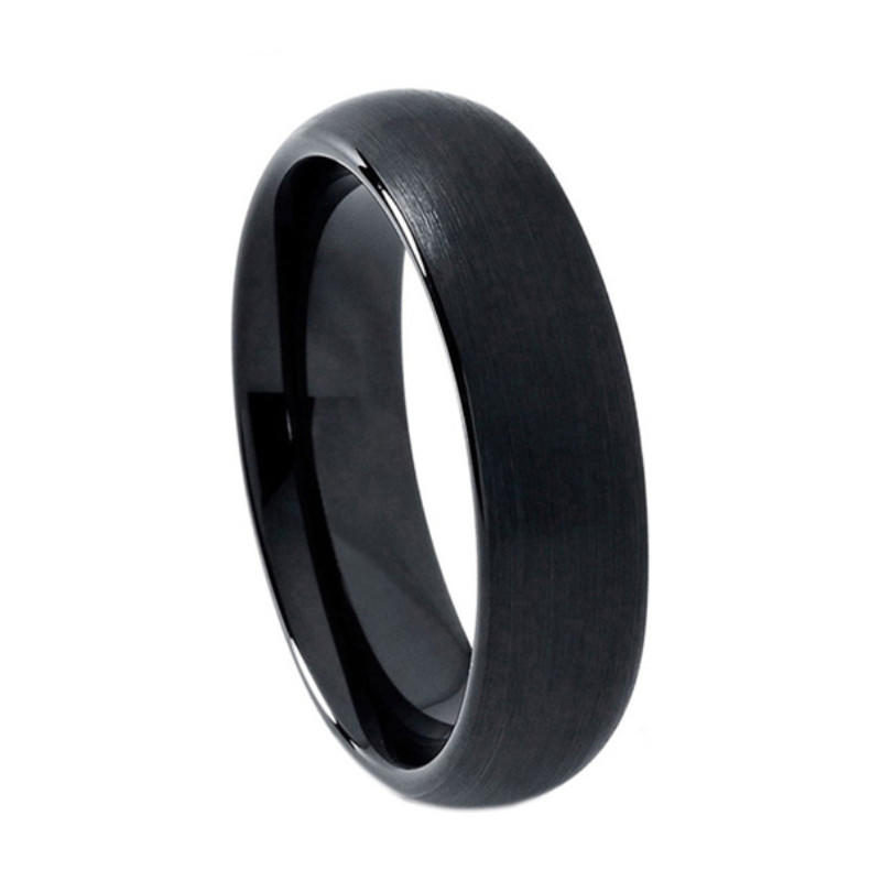 JaneE inlay brushed tungsten wedding bands for her exquisite for engagement