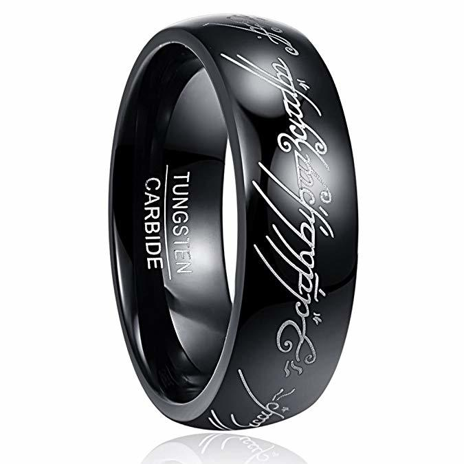 JaneE traditional wood inlay wedding band exquisite for engagement