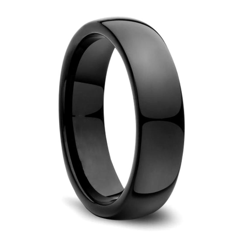 JaneE koa wood mens tungsten wedding bands engraved for engagement