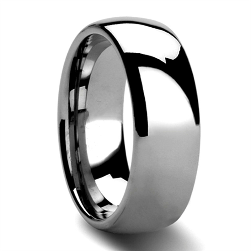 multi colors tungsten carbide ring price two tones matt for gift-1