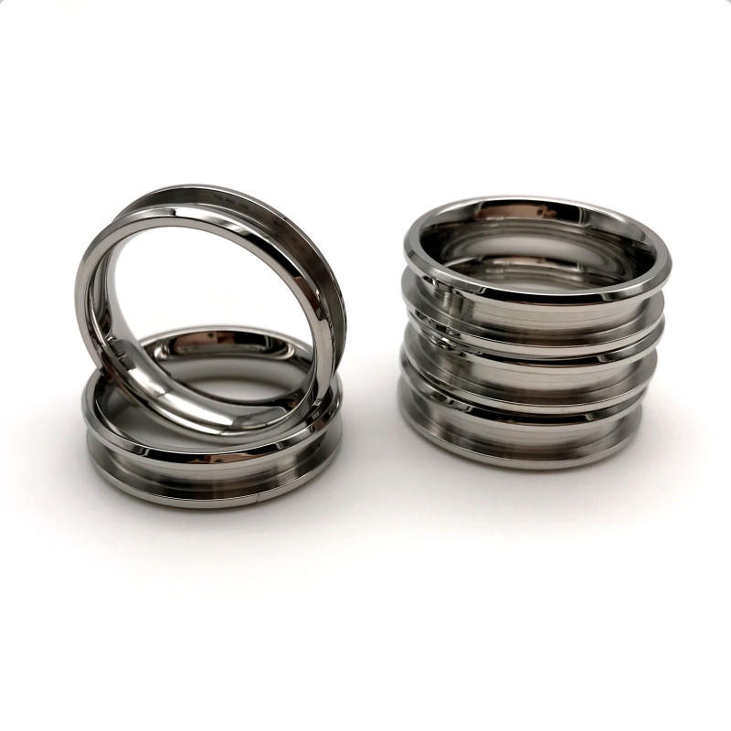 316l Steel Ring Surgical Stainless Steel Ring Core Black for Inlay 6mm