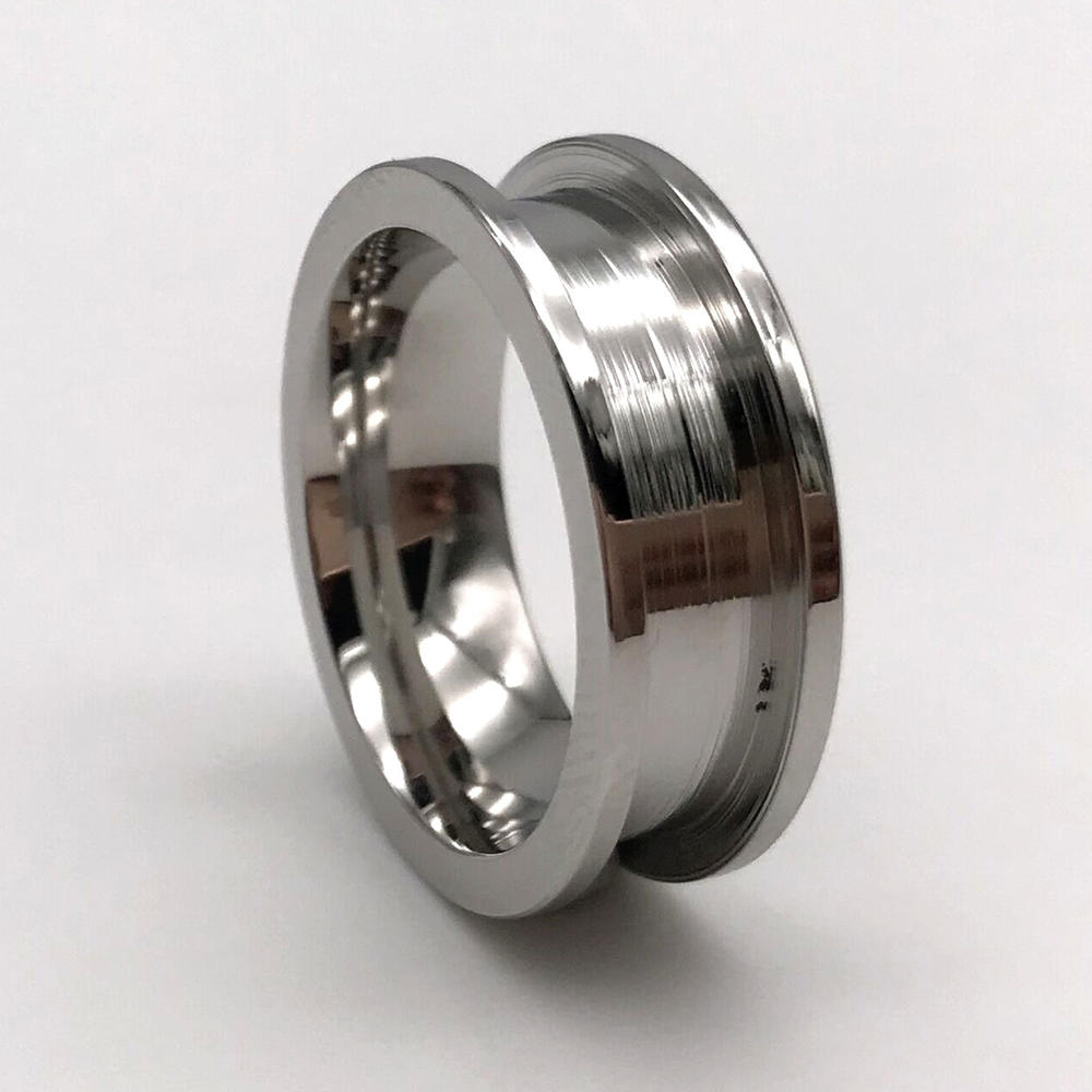 Stainless Steel Band Rings Craft  for Inlay 316L Stainless Steel Flat Edge Core