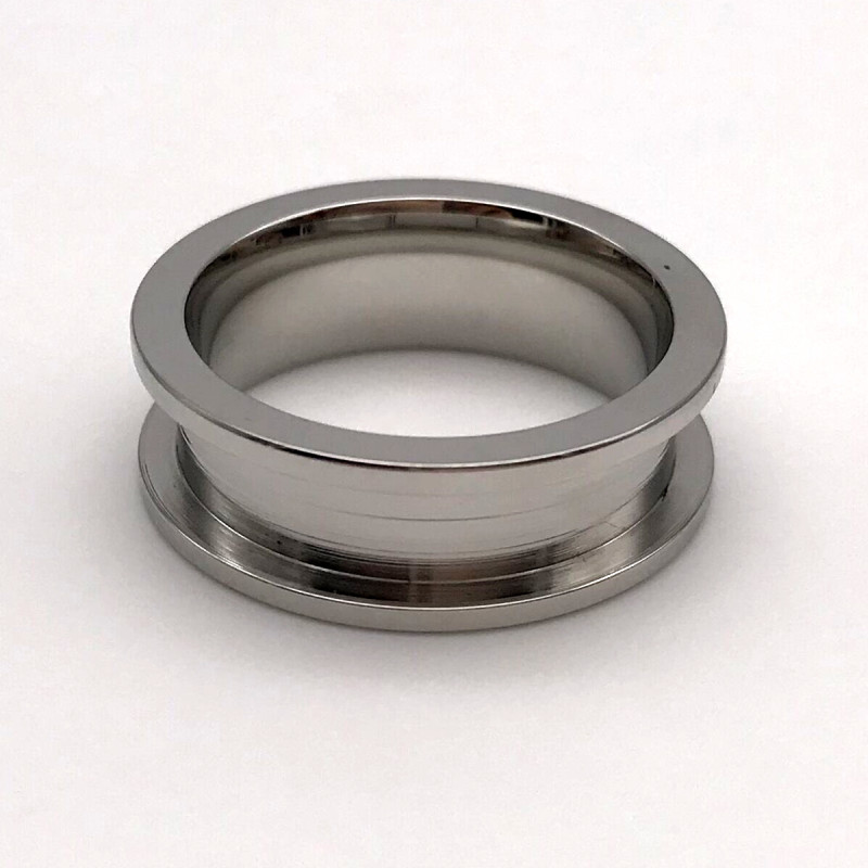 square edges women's stainless steel wedding rings inlay top quality for weddings-2