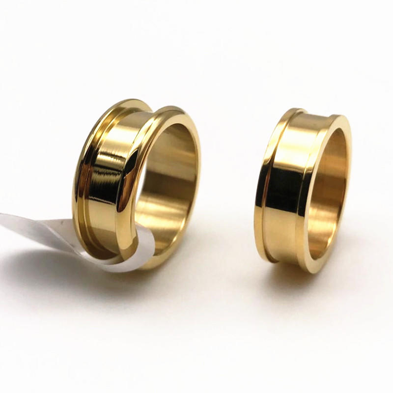 gunmetal black stainless steel wedding bands plated for decoration JaneE