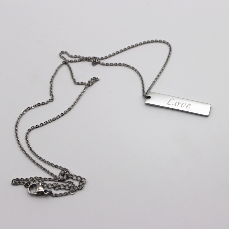 JaneE fragrant black stainless steel necklace different dimension for gift-2