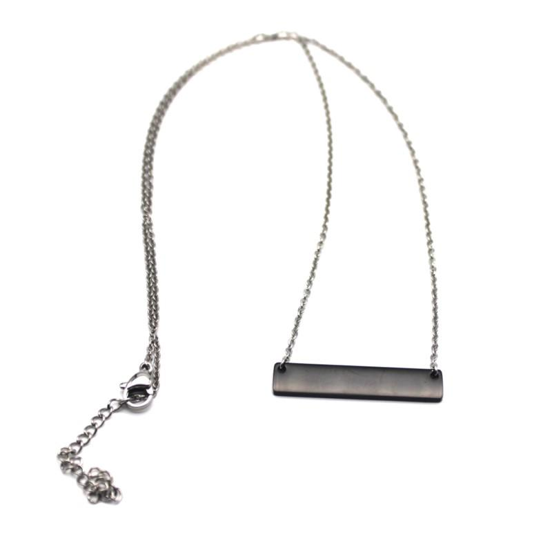 Custom Stainless Steel Necklace Black Surgical Name Necklace 2019