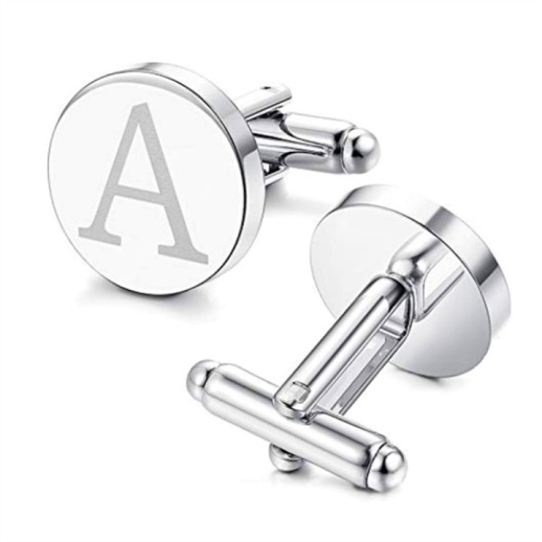 personalised cufflinks and studs logo name supplier-2