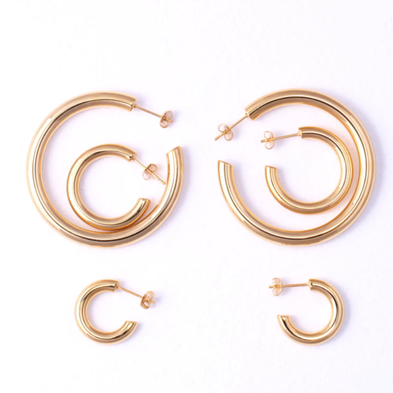 exchangeable surgical stainless steel earrings rose gold customized for women