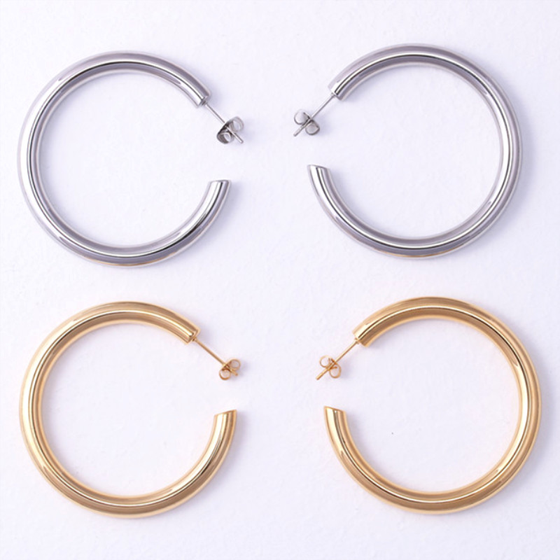 exchangeable surgical stainless steel earrings rose gold customized for women-4