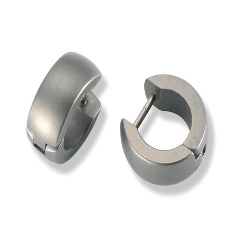 Titanium Earrings Cuff Ear Ring Men Women Jewelry