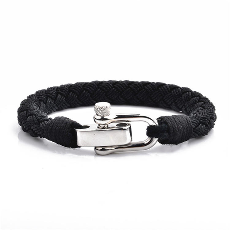 JaneE jewelry engraved cotton rope bracelet exquisite for women
