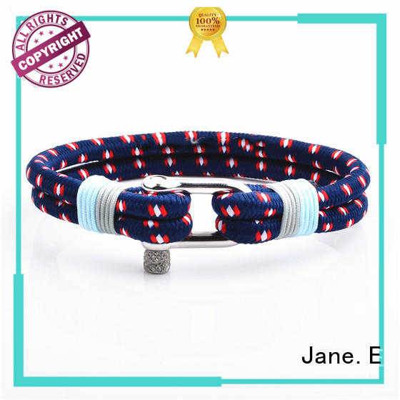 JaneE rose red cotton rope bracelet exquisite for women
