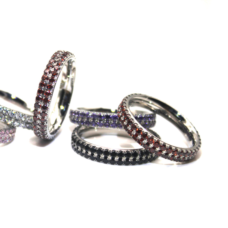 factory direct stainless steel couple rings rose gold top quality for men-3