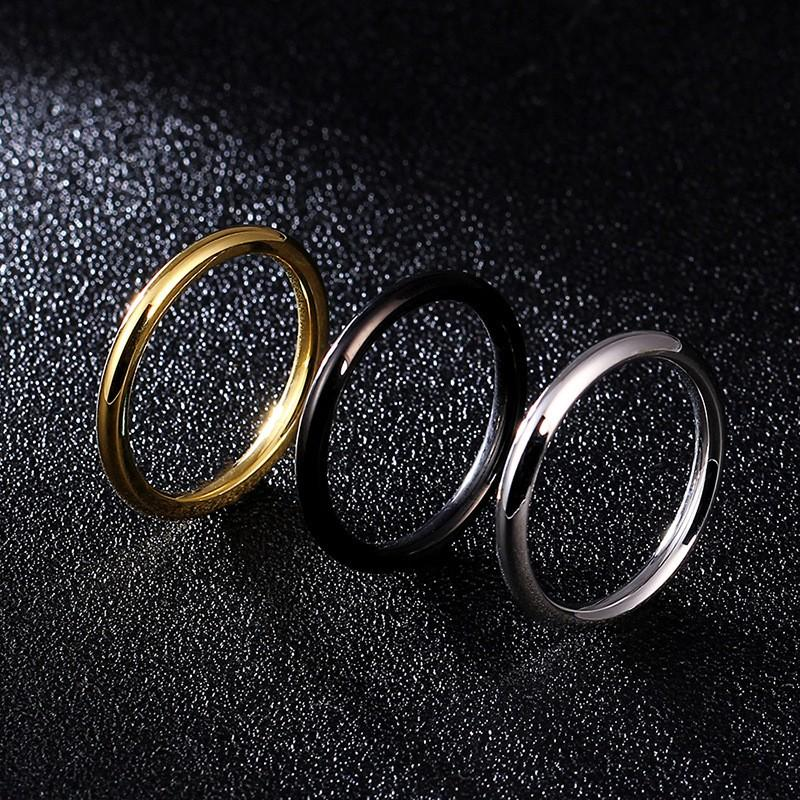 shiny women's stainless steel rings brown comfortable for weddings