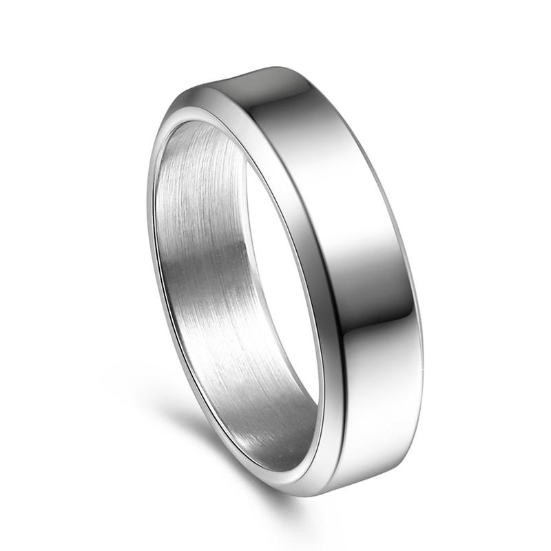 Custom 316L Stainless Steel Plain Polished Wedding Ring for Men