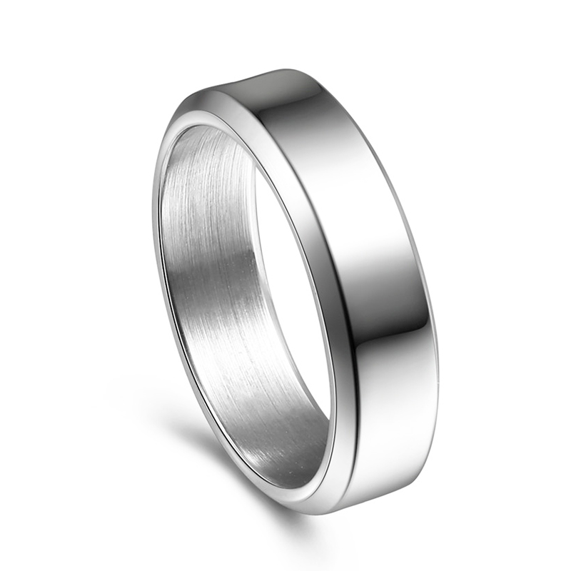 JaneE customized stainless steel wedding band comfortable for decoration-1