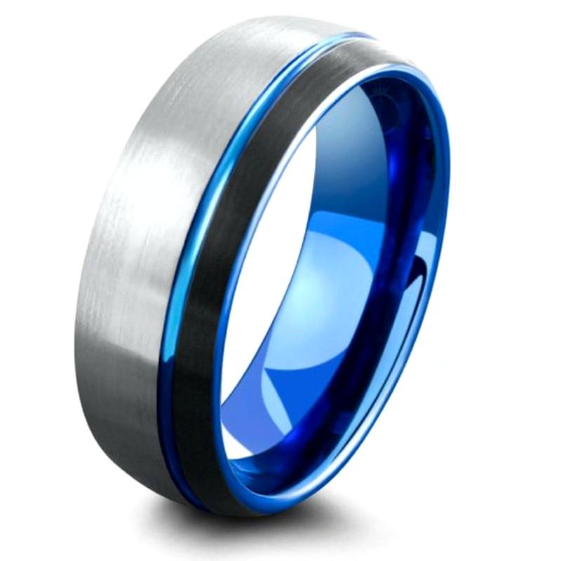 JaneE multi colors tungsten carbide ring matt for wedding-1
