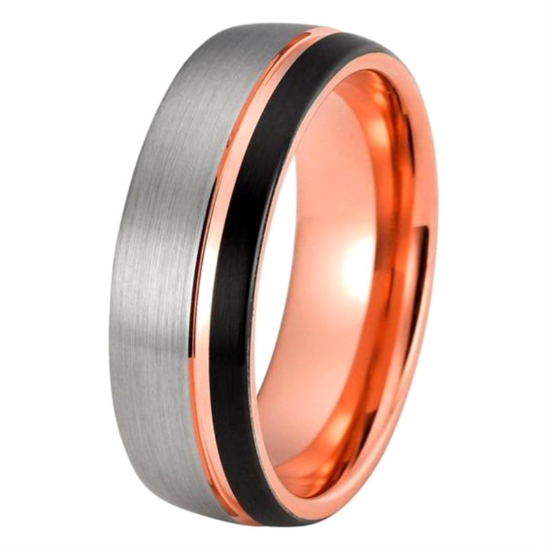 JaneE multi colors tungsten carbide ring matt for wedding-2