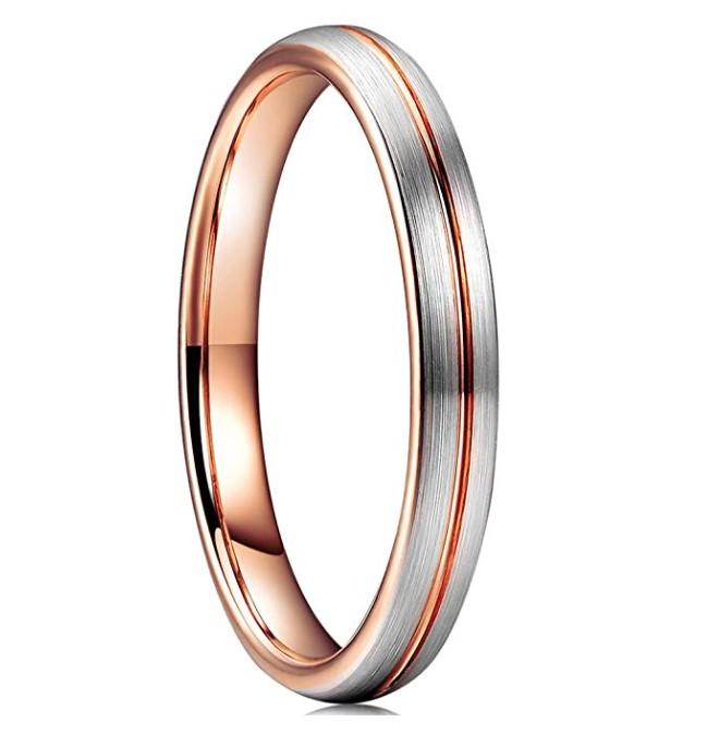 Custom 4mm Women Wedding Band Tungsten Carbide Rings