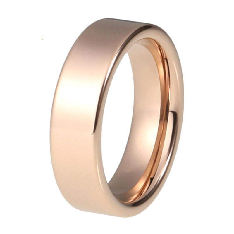 Rose Gold Gold Plating 316L Stainless Steel Wedding Ring for Men Women 8mm
