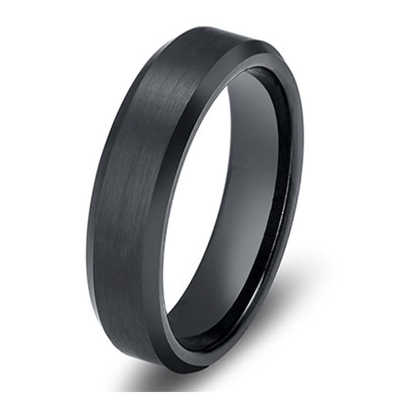 rose gold black stainless steel ring comfortable for weddings