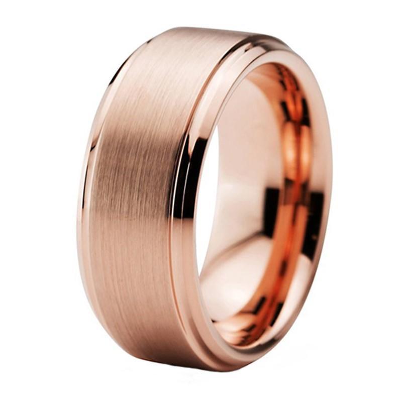 Best Selling Girls Tungsten Carbide Wedding Ring Rose Gold Plating