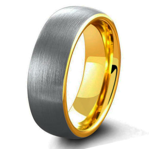 Best Selling Dome Gold Plating Silver Tungsten Wedding Ring