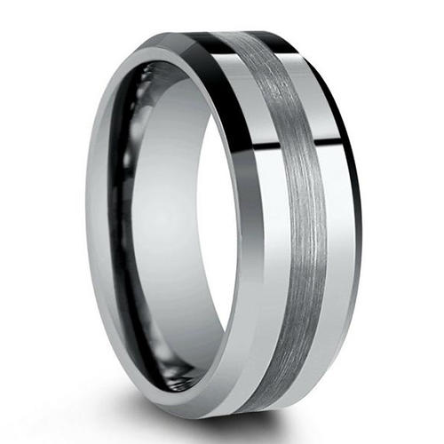Simple Custom Mens Wedding Ring Tungsten Carbide