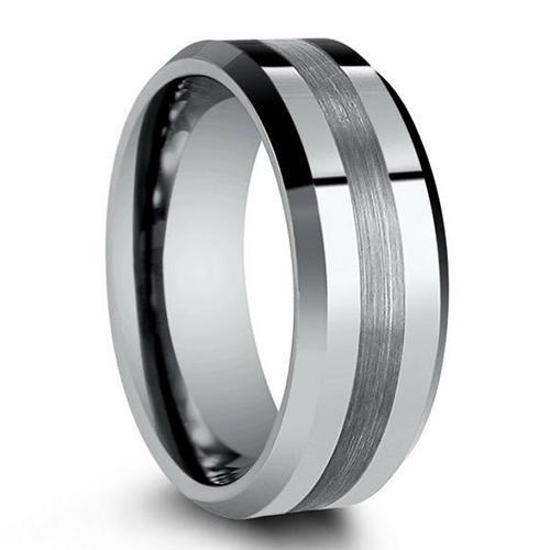 Simple Custom Mens Wedding Ring Tungsten Carbide