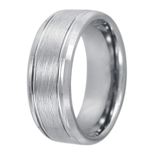 JaneE damascus texture blue tungsten wedding bands engraved for engagement-3