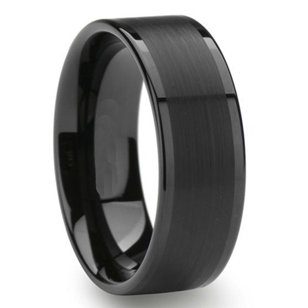 JaneE unique design mens tungsten wedding bands matt for engagement
