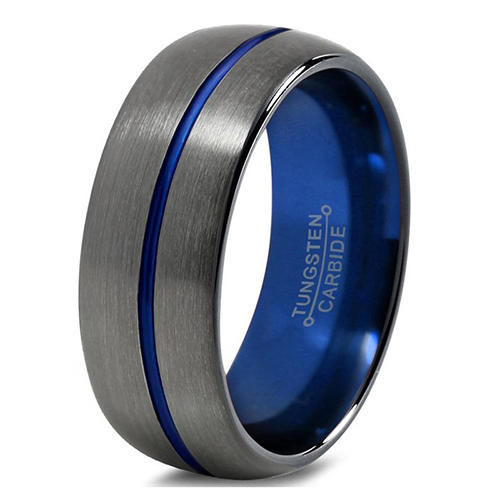 Tungsten Carbide Ring China Factory Silver and Blue Color