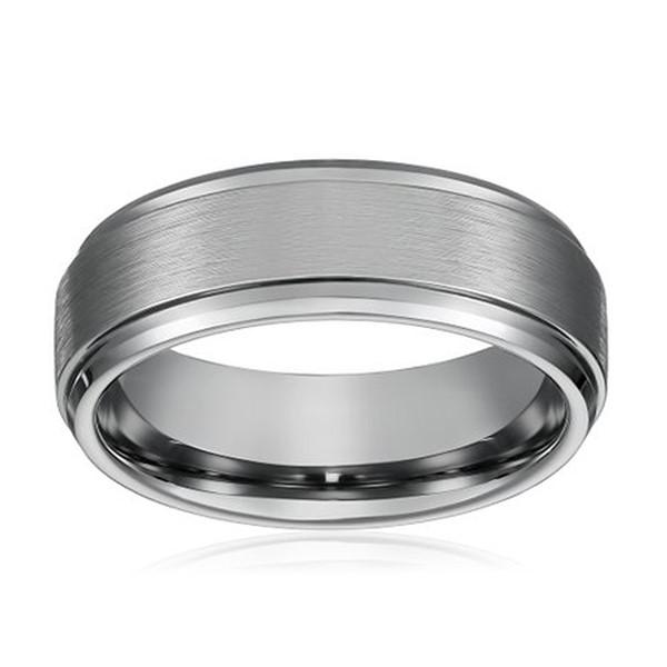 JaneE koa wood tungsten carbide mens wedding ring engraved for engagement-2