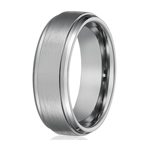 JaneE koa wood tungsten carbide mens wedding ring engraved for engagement-3