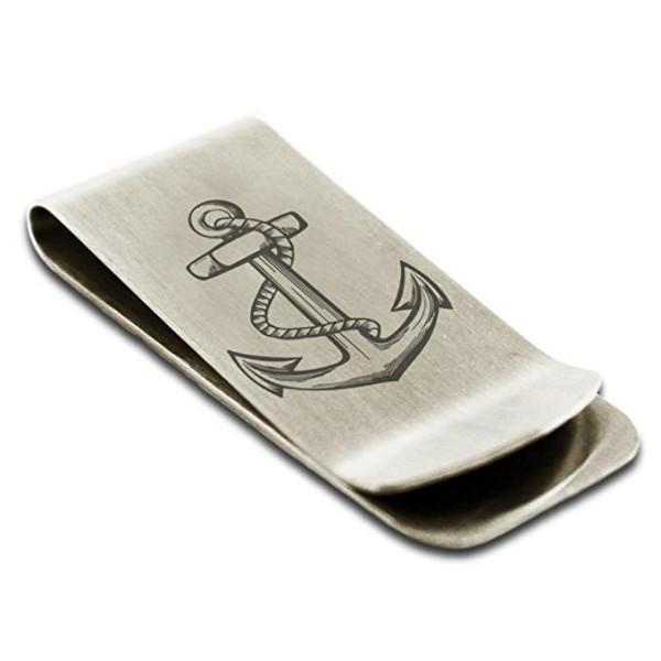 JaneE custom logo engraving mens money clip adjustable for men's wallet