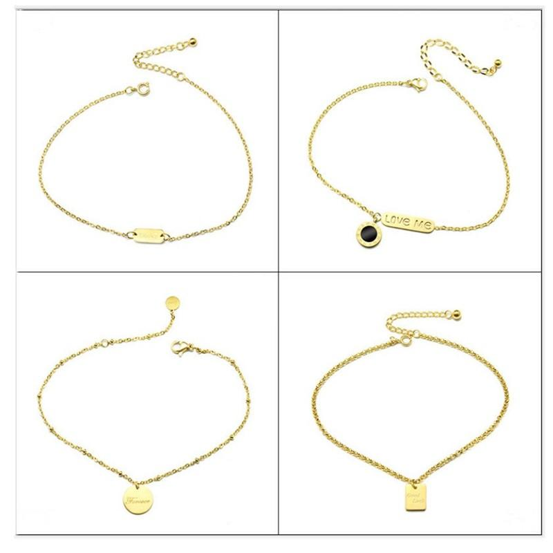 Custom 316L Stainless Steel Anklet Anklets for Women Girl Gift