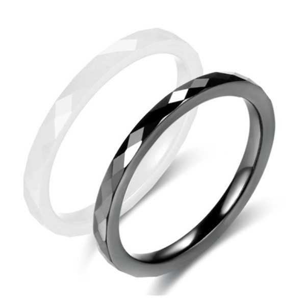 fashion mens black ceramic ring white exquisite for inlay-1