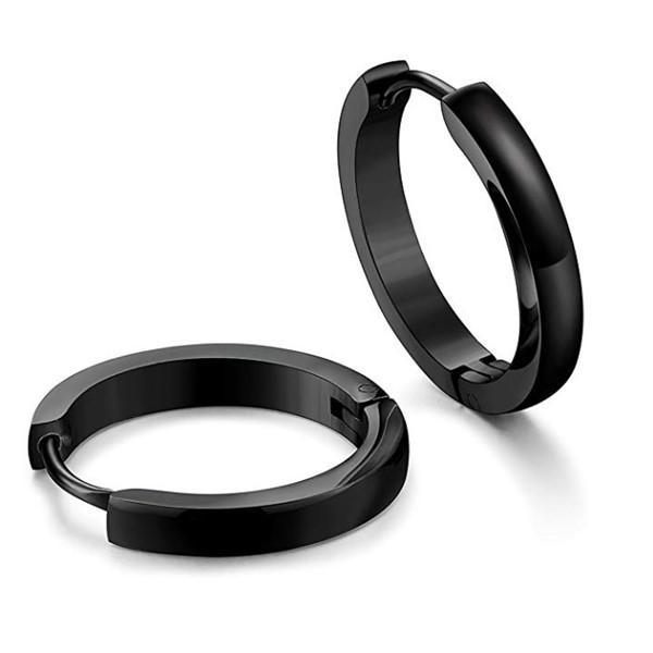 316L Stainless Steel Cuff Hoop Earrings for Men Women
