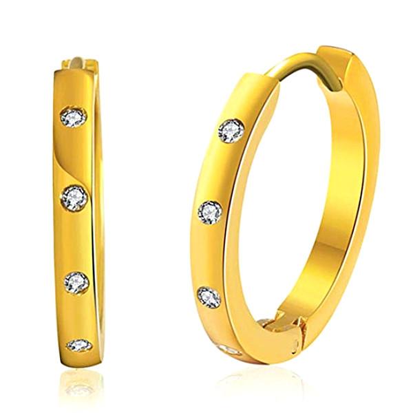 JaneE cuff hoop hypoallergenic earrings comfortable for women-1