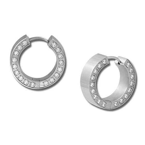 hypoallergenic surgical steel hoop earrings high polished ODM for decoration