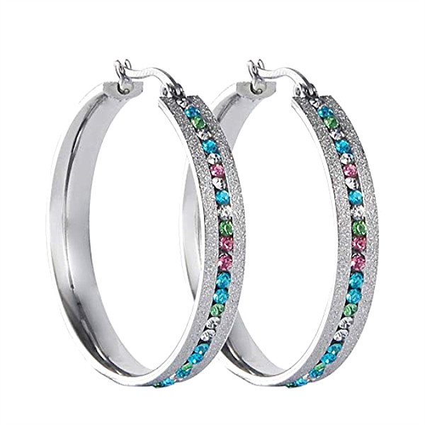 JaneE cuff hoop surgical stainless steel earrings ODM for women-4
