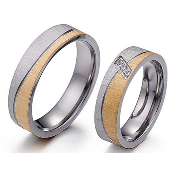 Custom Engraved 316L Stainless Steel Wedding Rings for Couple