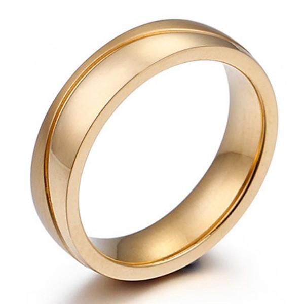 OEM Mens Women Gold Plating 316L Stainless Steel Wedding Ring