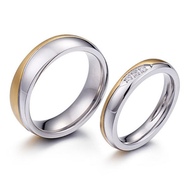 Manufacture Domed Matte Surgical Stainless Steel Anniversary Gift with Zircon