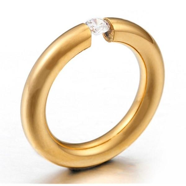 JaneE square edges stainless steel rings for her comfortable for decoration